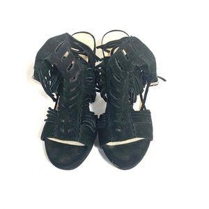 Bar III Block Faux Suede Shoes 7.5 Black